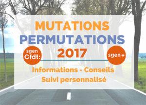 mutations permutations 2017 premier degre guide pratique du Sgen-CFDT