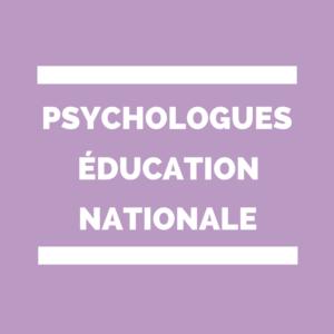 Psychologue de l'éducation nationale Psy-EN