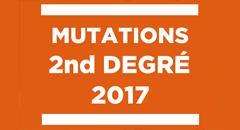 dates des résultats de mutations 2017