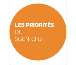 Priorites du Sgen-CFDT