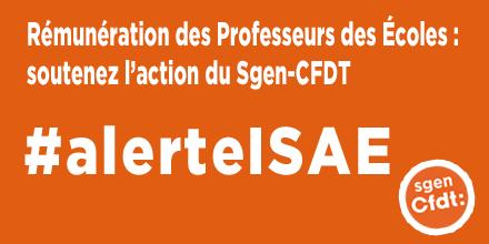 Alerte ISAE Professeurs des écoles Sgen-CFDT