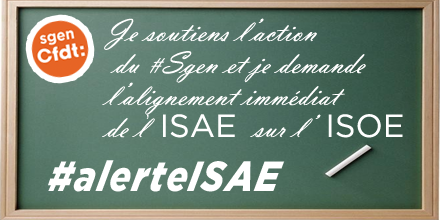 Professeurs des écoles : Alerte ISAE Sgen-CFDT