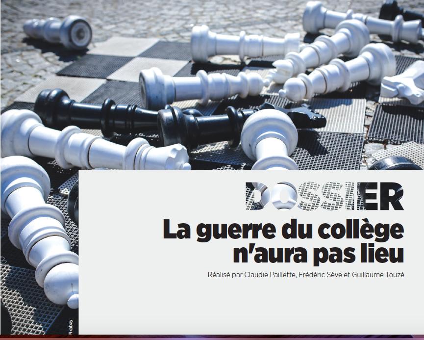 Dossier Profession Education - réforme du collège