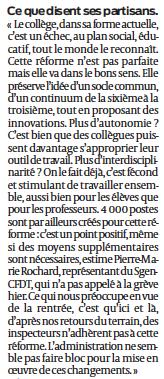réforme collège Ouest France 2
