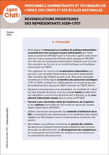 Jeunesse et sports personnels administratifs et techniques INSEP CREPS