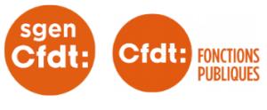 logos Sgen-CFDRT et CFDT Fonctionqs Publiques