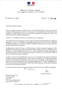 généralisation du pass éducation à tous les personnels des écoles et des établissements publics - lettre de Bernard Lejeune