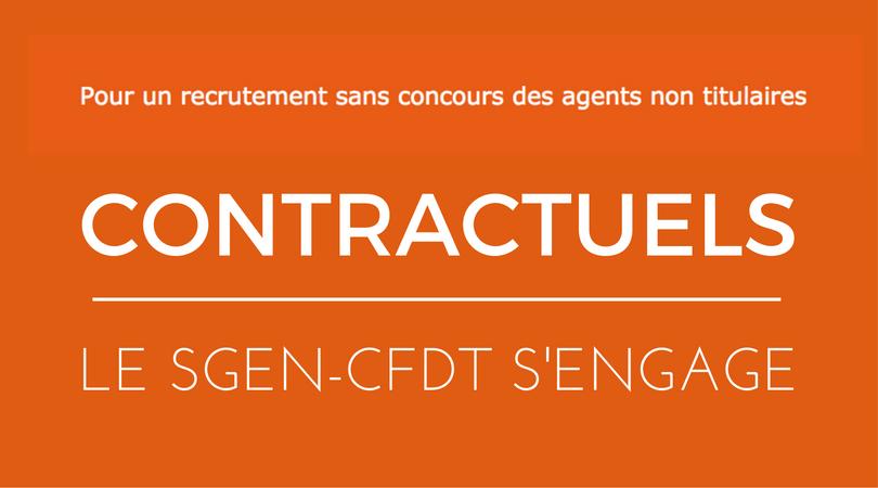 Petition pour la titularisation des agents contractuels