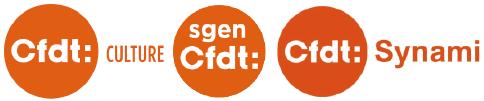 logos CFDT Culture - Synami-CFDT - Sgen-CFDT Rapport Lepaon - ANLCI - CIEP - DGLFLF