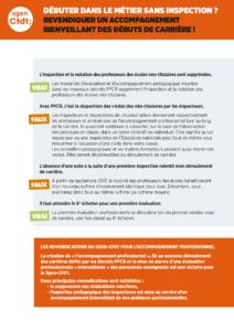 tract néo-titulaire inspection et accompagnement professionnel par les IEN