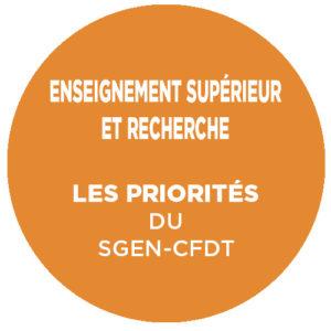 reforme premier cycle priorites Sgen-CFDT