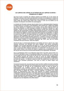 Rythmes scolaires : déclaration commune CFDT - Fédération Sgen-CFDT - Fep-CFDT - Interco-CFDT et F3C-CFDT
