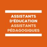 Assistants d'éducation : le ministère doit agir