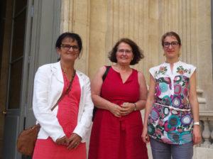 inclusion et santé scolaires, la délégation Sgen-CFDT, Annie Catelas, Dominique Aguir et Catherine Nave-Bekhti
