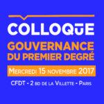 colloque autonomie gouvernance du premier degré programme