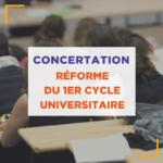 concertation reforme 1er cycle universitaire - accès aux études de santé