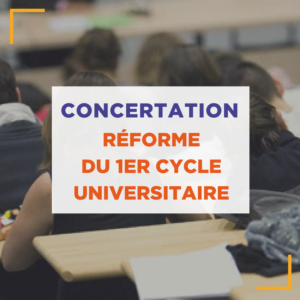 concertation reforme 1er cycle universitaire