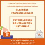 élections professionnelles : représentants des Psy-EN en CAPA et CAPN