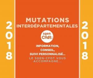 mutations interdépartementales du premier degré 2018 guide