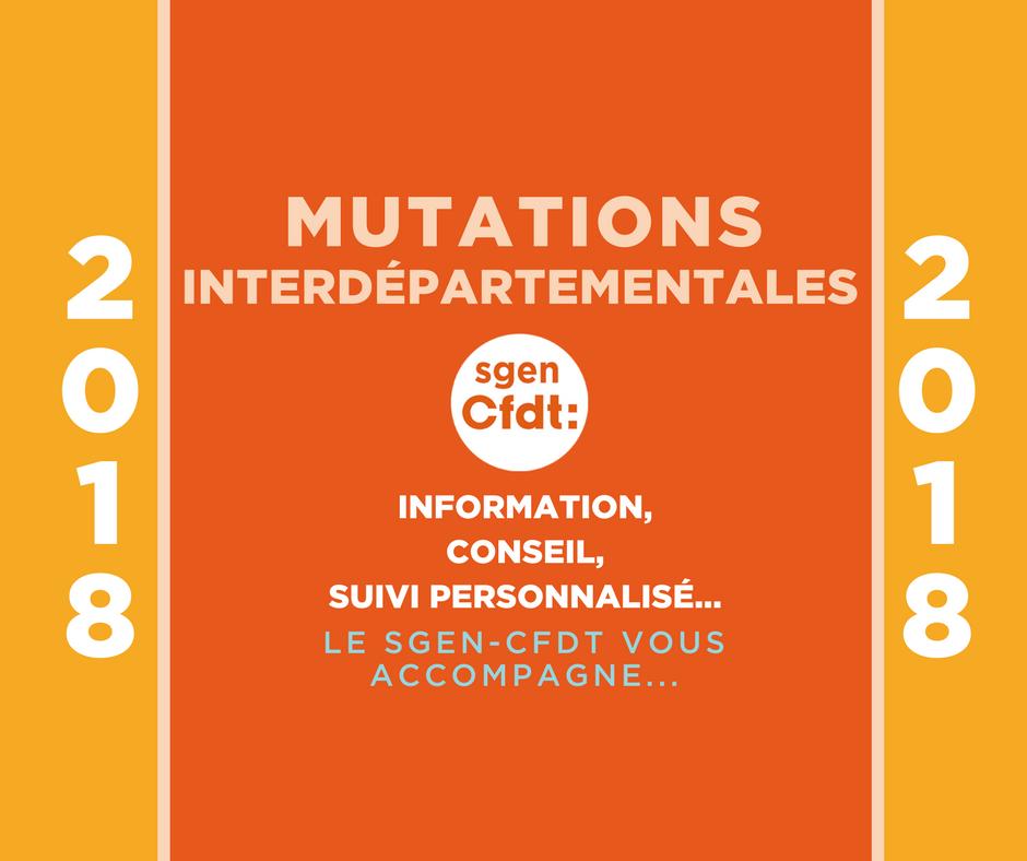 mutations interdépartementales 2018