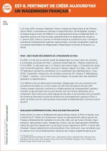 Sup Agro : AgroParisTech, Montpellier SupAgro et Agrocampus, que penser de la perspective de création d'un établissement unique le 1er janvier 2020 ?