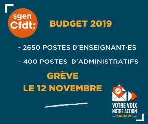 Appel à la grève le 12 novembre 2018