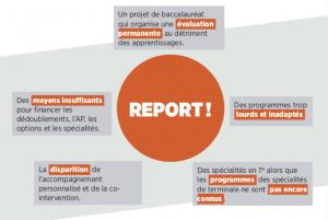 réforme du bac et du lycée - tract report