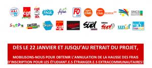 Mobilisation contre droits d'inscription étudiants étrangers