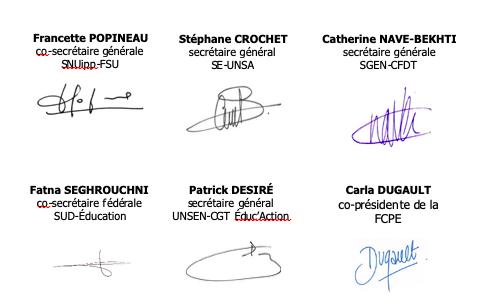 courrier unitaire canicule signatures