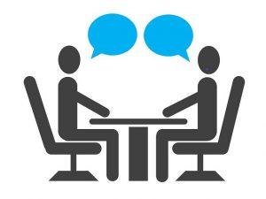 entrevue deux personnes