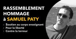 Rassemblement hommage à Samule Paty - attentat