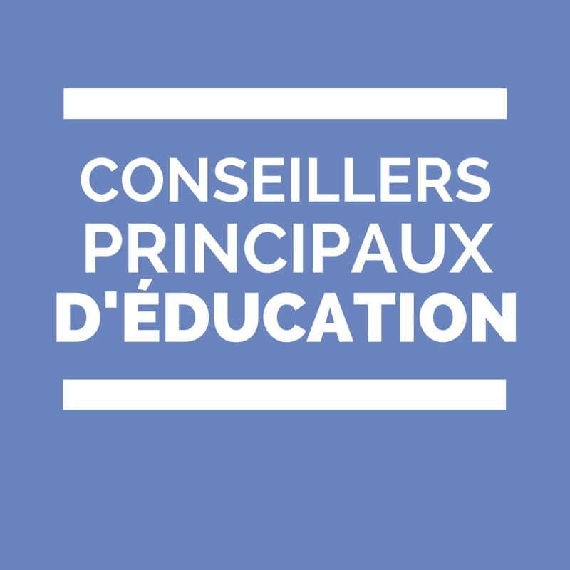 CPE Conseillers principaux d'éducation