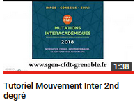 Calendrier Mutation Inter 2021 2D] Mouvement inter 2nd degré 2021   SGEN CFDT Académie de Grenoble