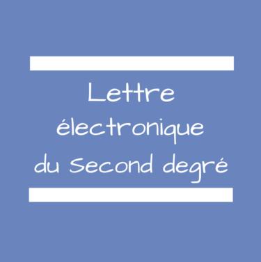 lettre électronique second degré - novembre 2016