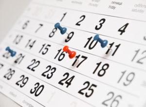 calendrier : changer de département