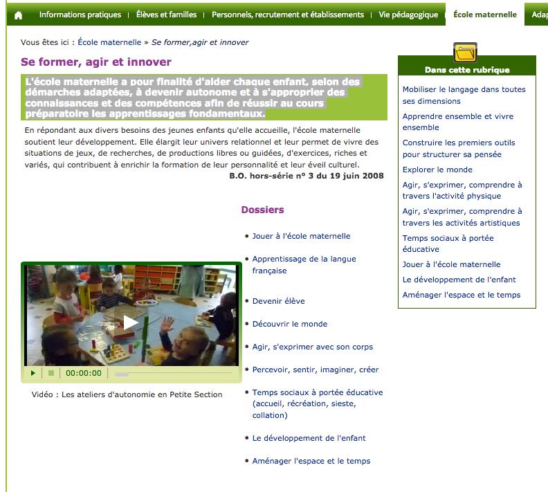 Site de la DSDEN de la Sarthe
