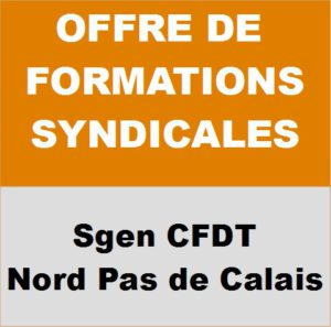 Offre de formations syndicales