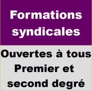 Formations ouvertes à tous, premier et second degré