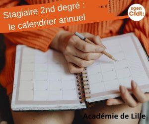 calendrier annuel du professeur stagiaire