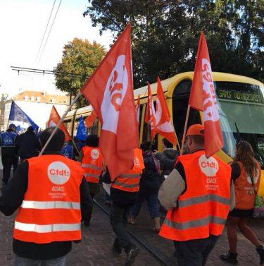 manifestation du 10 octobre en Alsace