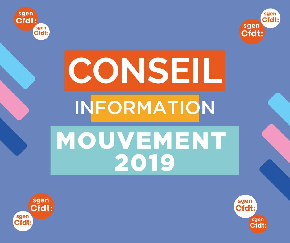 conseil information mouvement 2019