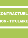 Contractuels - non titluaires