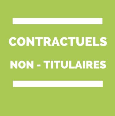 Contractuels - non titluaires