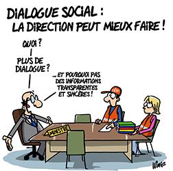 Absence de dialogue social