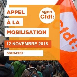 Appel à la mobilisation le 12 novembre 2018
