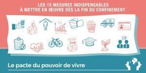 15 Propositions du Pacte pour le Pouvoir de vivre