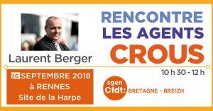 Laurent Berger au CROUS