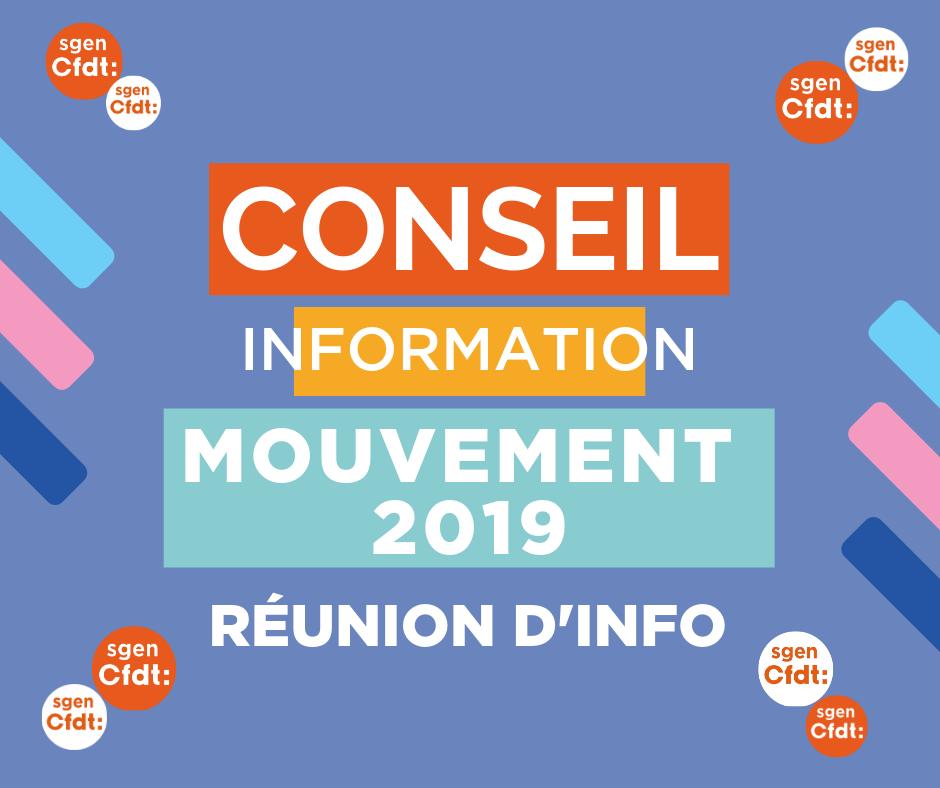 Info mouvement 2019