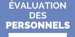 évaluation des personnels
