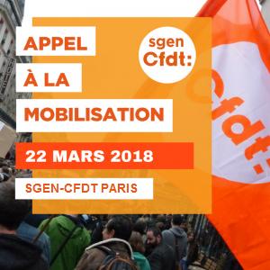 appel mobilisation 22 mars